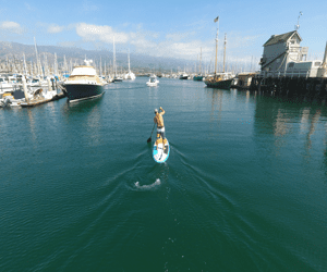 santa barbara harbor info paddle board