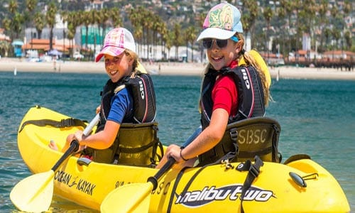 things to do santa barbara harbor kayak paddle board sail boat rentals