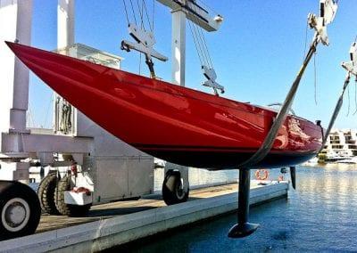boat on a hoist