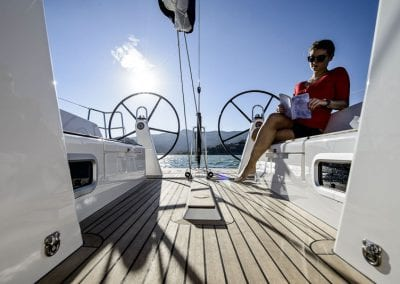 deck view of boat