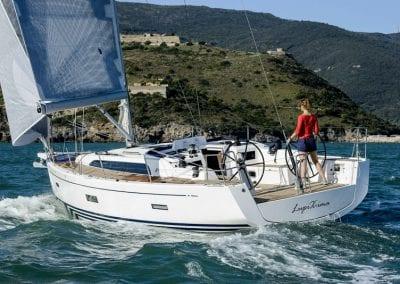 sailing a boat