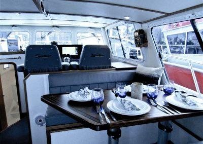 Seasport Pacific 32 Catamaran eating area