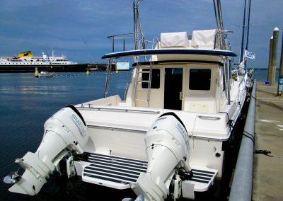 Seasport Pacific 32 Catamaran aft view