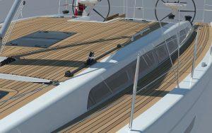 x49 decks trimmed with teak